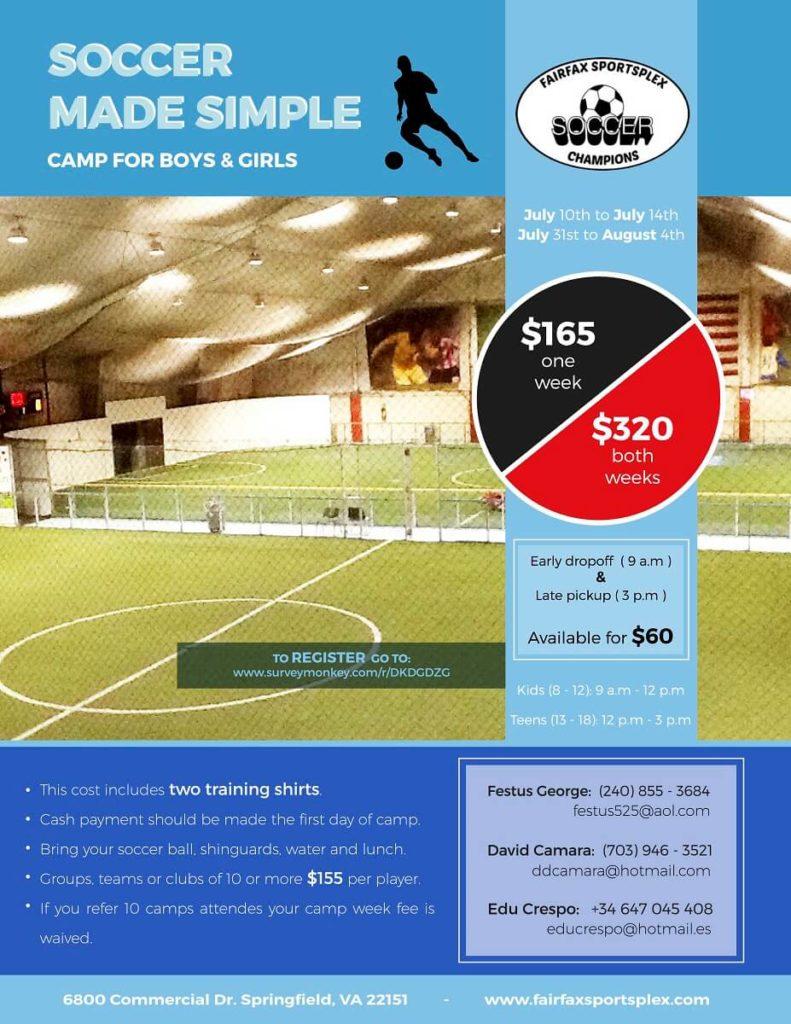 Soccer Made Simple - Camp for Boys and Girls - Fairfax Sportsplex